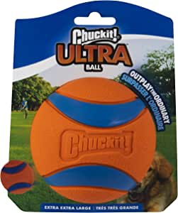 Chuckit! Ultra Dog Ball Bounces and Floats Bright Orange and Blue 5