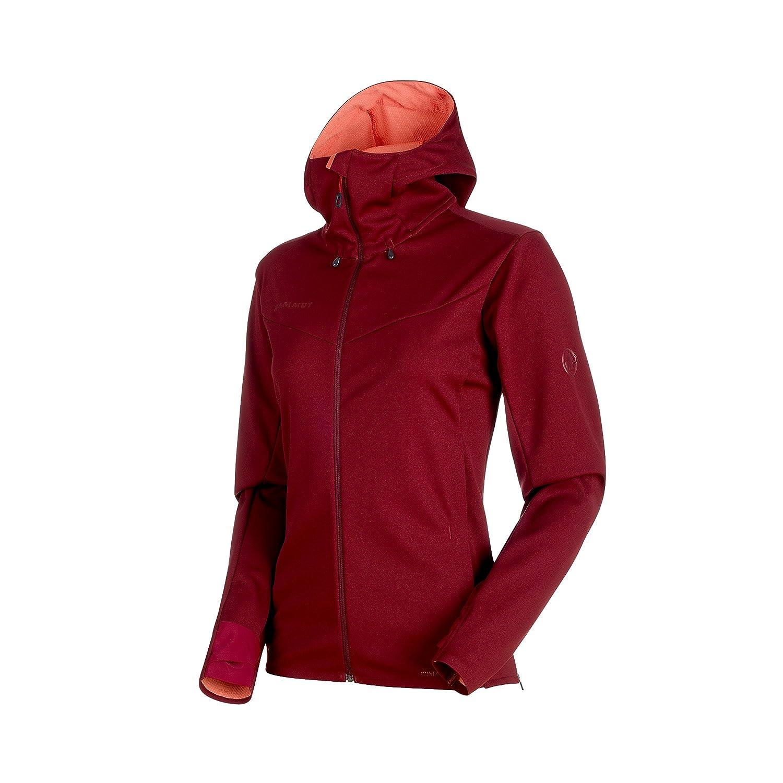 Mammut Ultimate V So Hooded Jacket Women; Merlot-Barberry Melange; XS