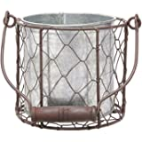MayRich 4.5'' Decorative Round Wire Basket with Tin Container