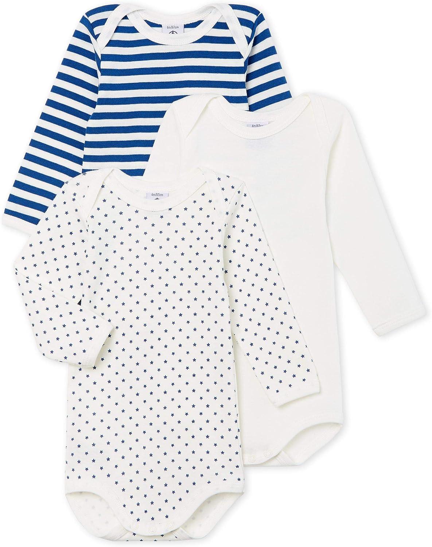Petit Bateau Baby Boys Shaping Bodysuit Pack of 3