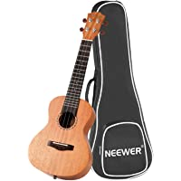 Neewer 21 inches Rosewood Ukulele Bundle with Gig Bag, 4 Silver Carbon Strings, Metal Tuning Peg, Ideal for Beginner Music Lover