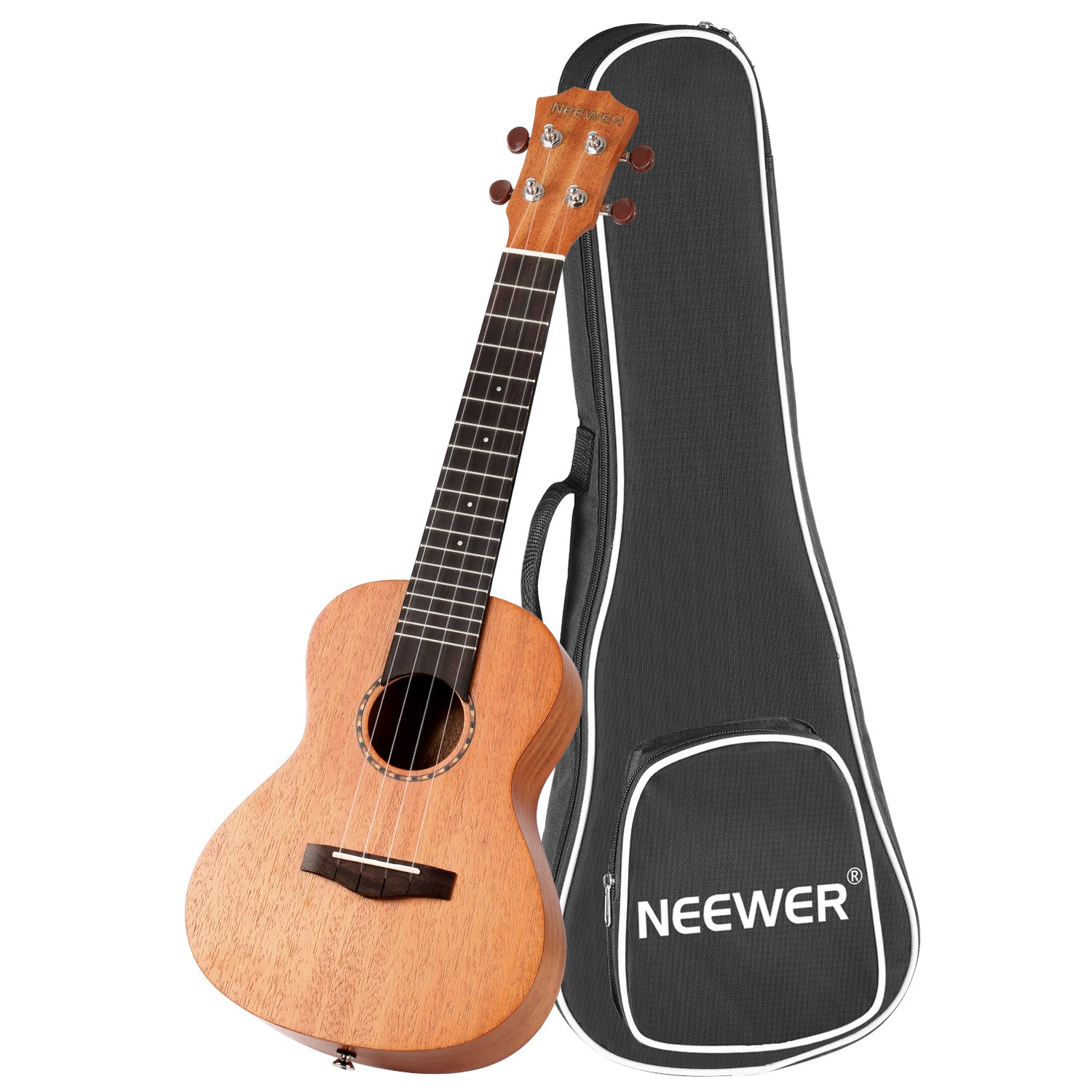 Neewer 23 inches Rosewood Ukulele Bundle with Gig Bag, 4 Silver Carbon Strings, Metal Tuning Peg, Ideal for Beginner Music Lover