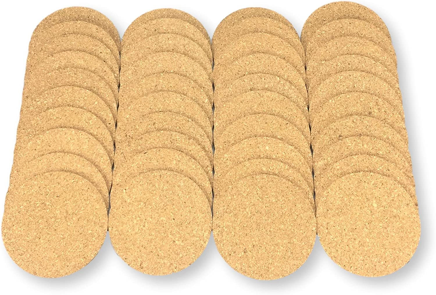 Keklle Round Cork Coasters - Set of 40 For business,Best Drink Coaster for Drinks in Office, Home, or Cottage