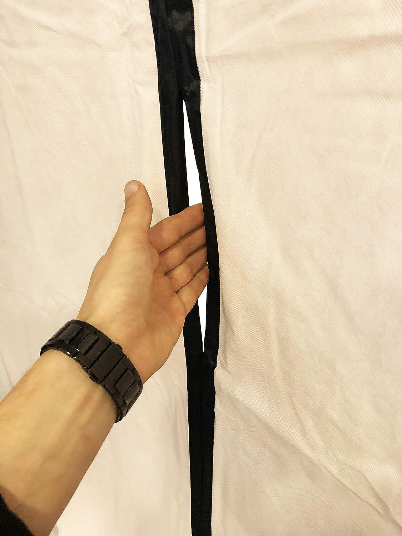 Baut/ür mit Magnetverschluss 1,20 x 2,20 m inkl Vlies doppelseitigem Klebeband und LDPE-Abdeckfolie Staubschutzt/ür Magnet 2er Set