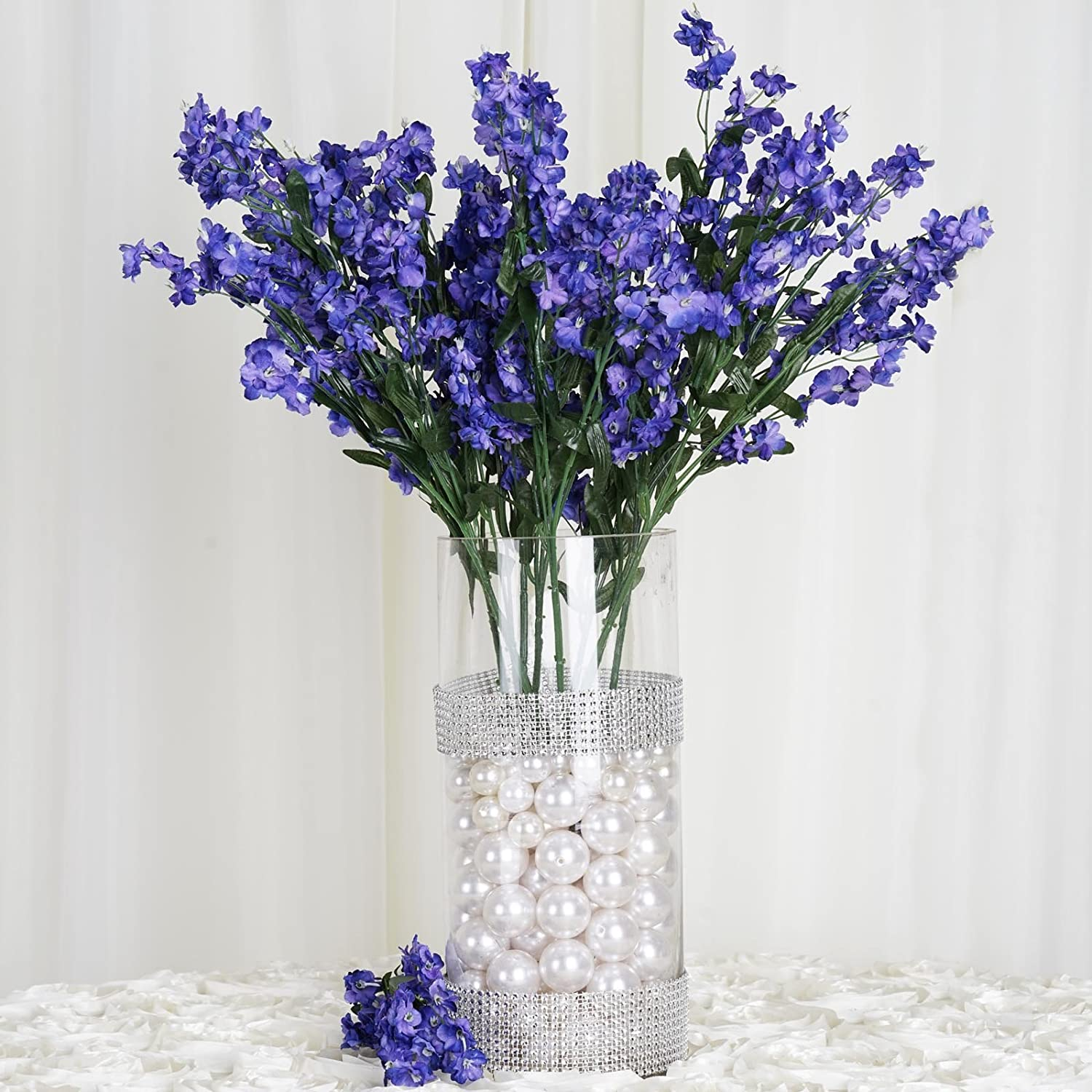 Amazon efavormart 12 bushes baby breath artificial filler amazon efavormart 12 bushes baby breath artificial filler flowers for diy wedding bouquets centerpieces party home decoration navy blue home izmirmasajfo
