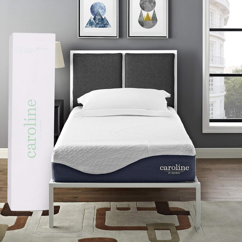 Modway Caroline 10 Cooling Air Gel Memory Foam Twin Mattress With CertiPUR-US Certified Foam – 10-Year Warranty