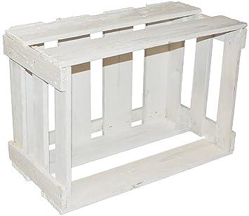4 pieza nueva blanca Vino Cajas/caja de madera/obstkiste de madera multiusos Modelo CA 49 x 30 x 28 cmxxx: Amazon.es: Hogar