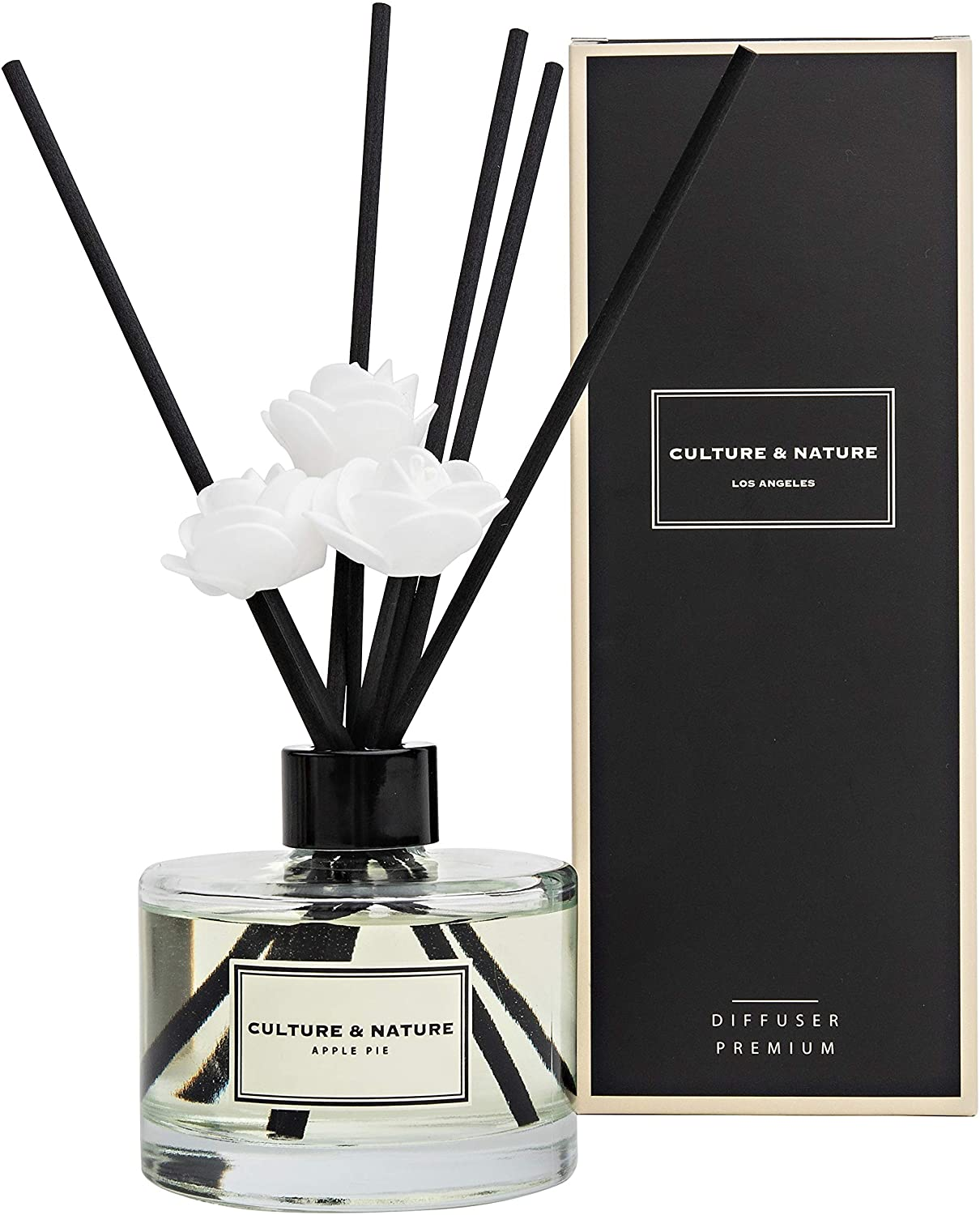CULTURE & NATURE Reed Diffuser 6.7 oz (200ml) Apple Pie Scented Reed Diffuser Set