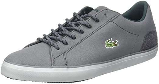 Lacoste Men's Lerond 417 1 CAM Trainers, Grey, 8 US: Amazon.ca: Clothing &  Accessories