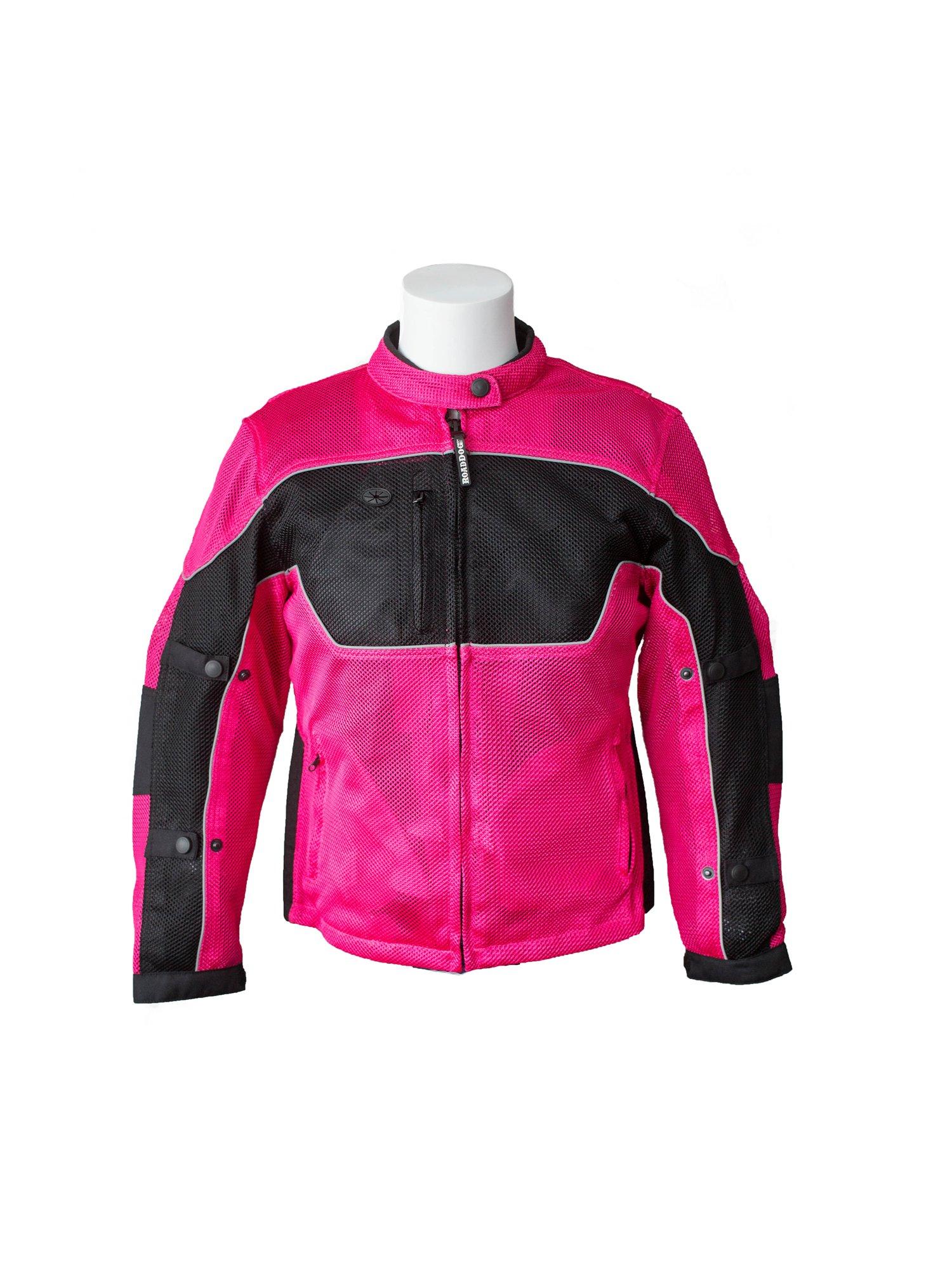 RoadDog Hurricane Mesh Motorcycle Riding Jacket Pink Women's Medium