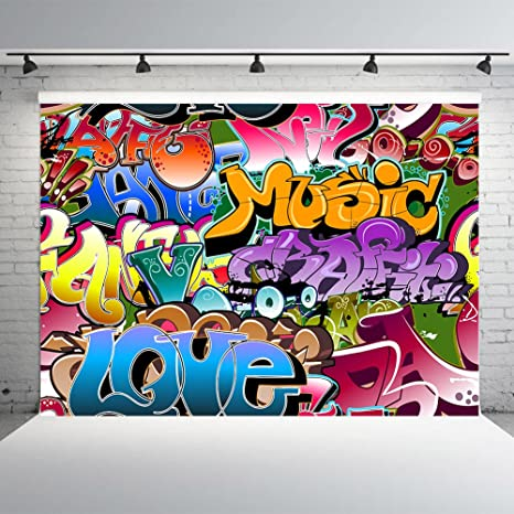 Xft Graffiti Style Photography Backdrops Vinyl Hip Hop S Party Decoration Photo Background Studio Prop
