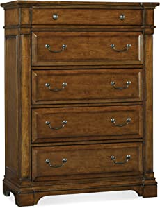 Hooker Furniture Tynecastle 5 Drawer Chest in Medium Wood