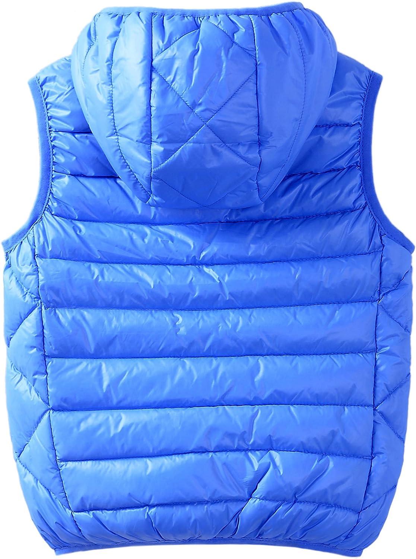 Hiheart Boys Girls Winter Down Vest Puffer Hooded Vests