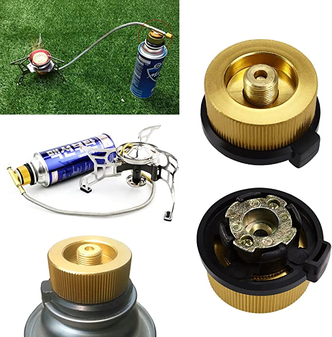 WINOMO Conector para bombona de gas de camping, adaptador de transferencia de boquillas de gas para quemador de camping
