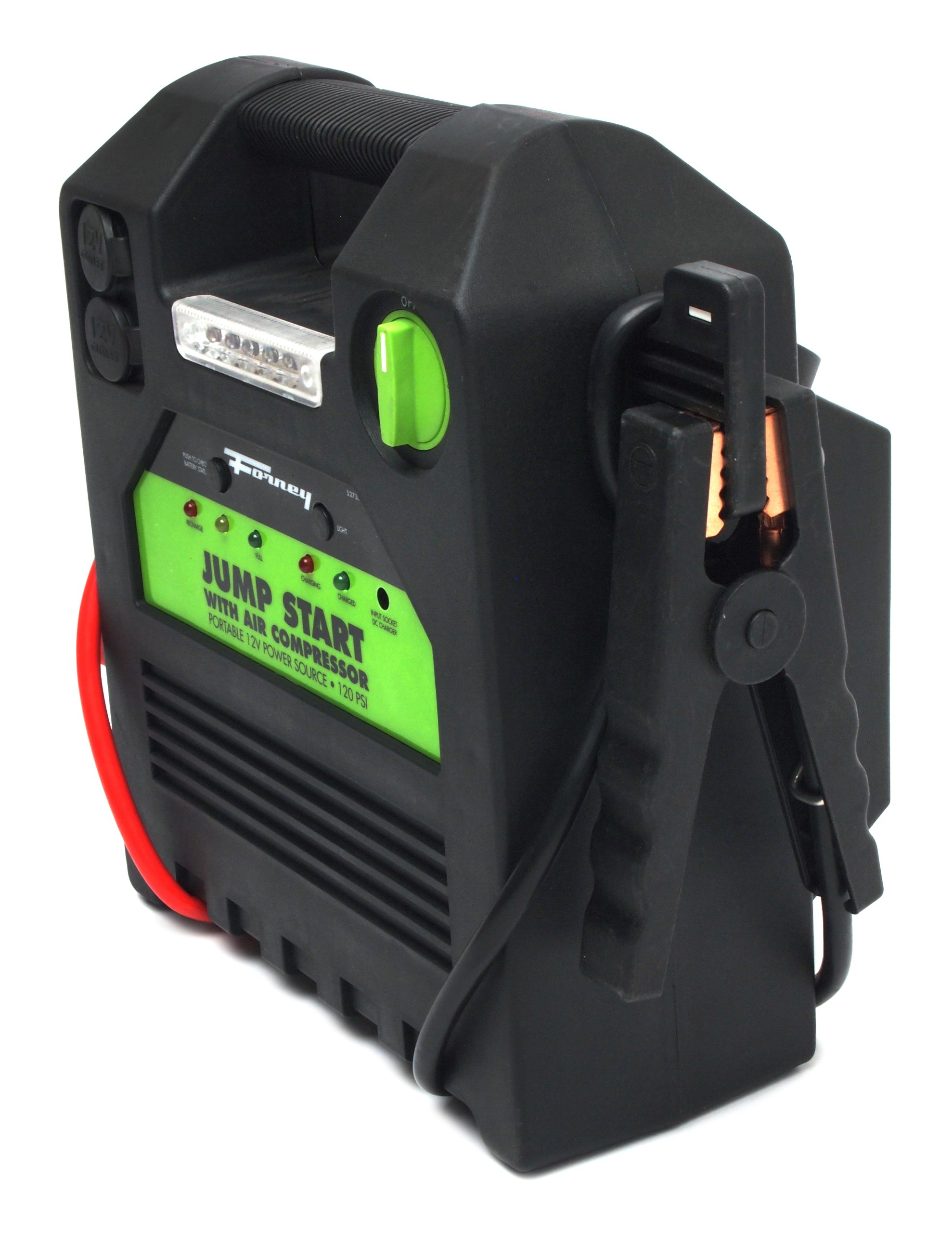 Forney 52732 Battery Booster Pack with 120 PSI Air Compressor, 18-Amp Hour, 12-Volt Jump Start by Forney (Image #5)