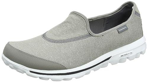 4968a669030d5d Skechers Damen Go Walk Slipper grau  Amazon.de  Schuhe   Handtaschen