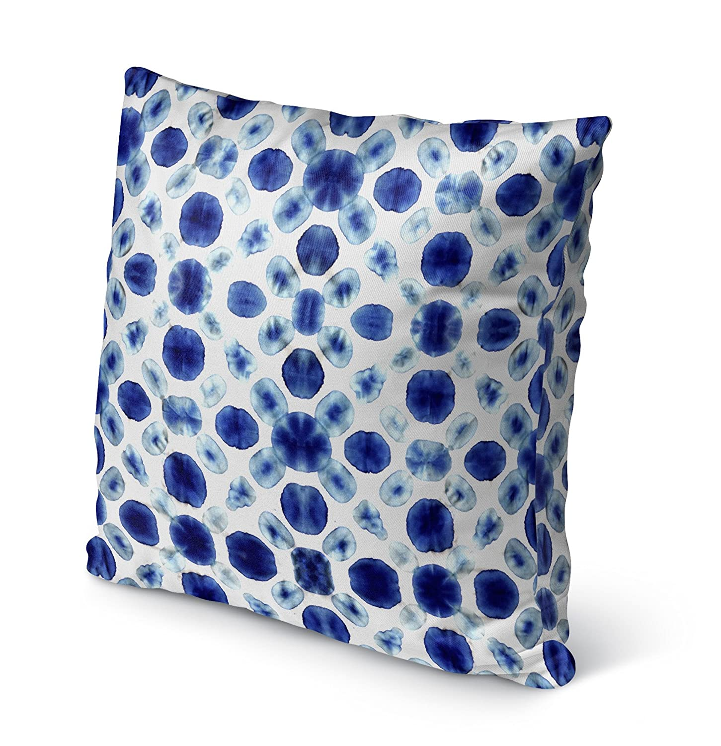 - SALTWATER Collection Blue KAVKA Designs Shibori Circle Indoor-Outdoor Pillow, Size: 20X20X6 - BBAAVC6501OD20