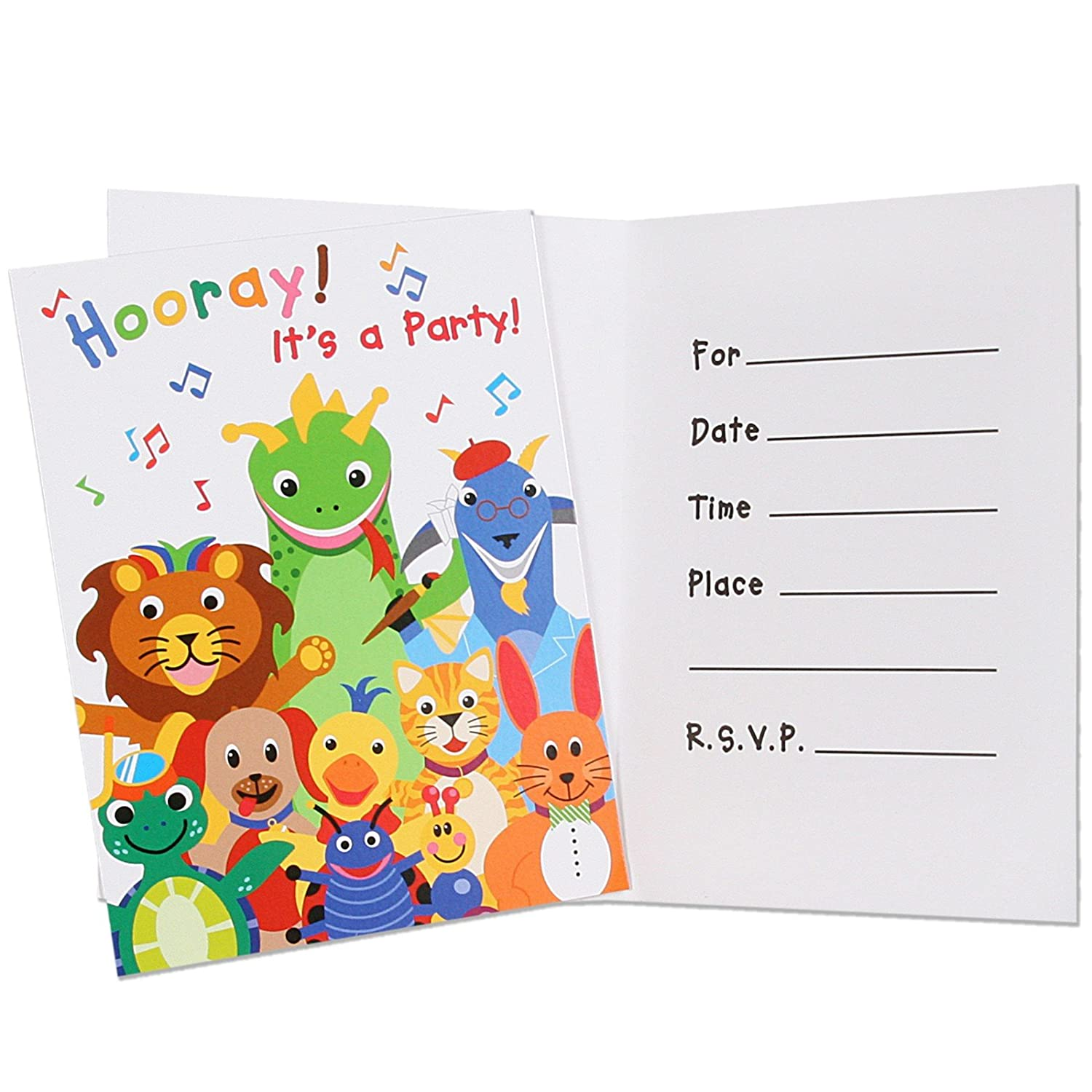 Amazon.com: Baby Einstein Party Invitations 8ct: Toys & Games