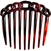 Caravan 9 Teeth Chain Like Design Tortoise Shell French Twist Comb, 1 Count