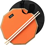 Slint Practice Drum Pad w/ Sticks- Double Sided Drum Practice Pads 12 inch w/ Storage Bag for 4 inch Snare Drum Pad- Silent P
