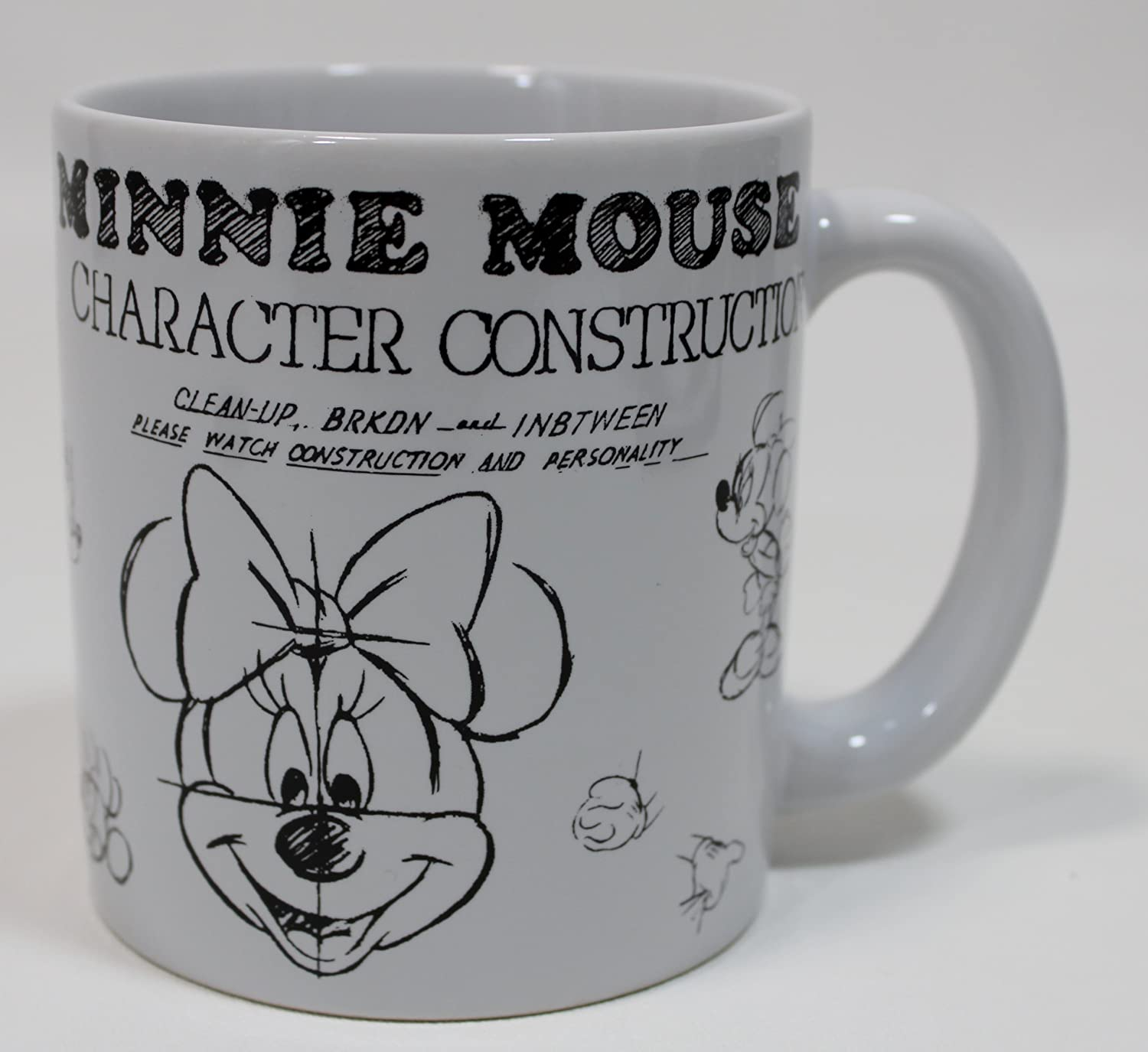Disney Minnie Mouse Character Construction Coffee//Tea Mug Disney Parks Exclusive /& Limited Availability