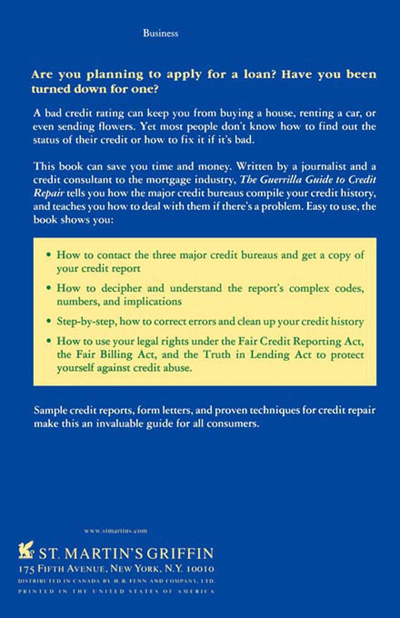 The Guerrilla Guide To Credit Repair How To Find Out WhatS Wrong