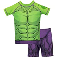 Marvel Boys The Incredible Hulk Swim Set Green