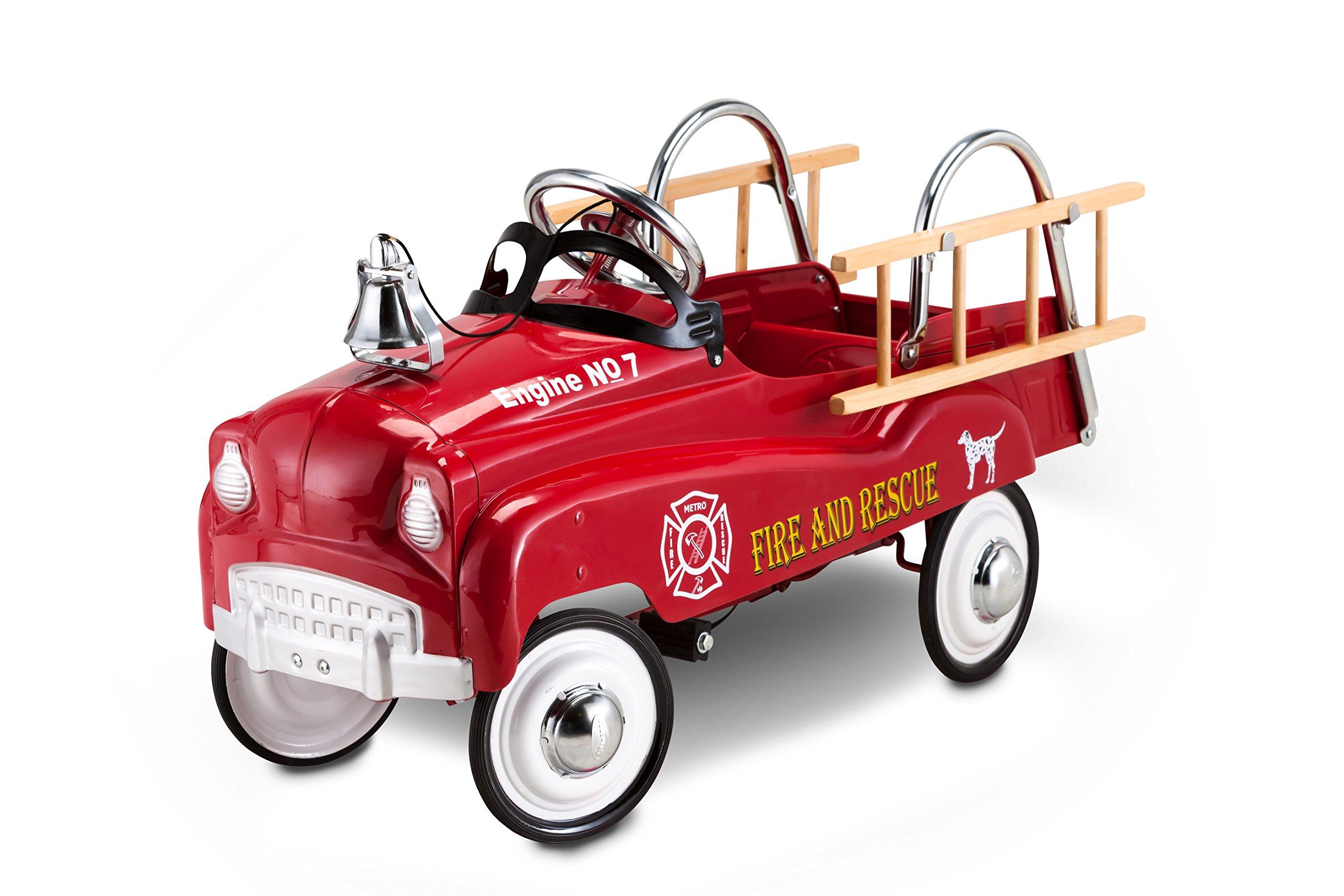 Fire Truck Pedal Car: InStep Fire Truck Pedal Car