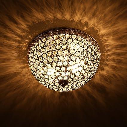 Co Z Flush Mount Crystal Ceiling Light Fixture With 2 Light Modern