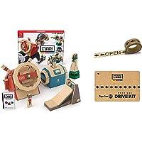 任天堂 Nintendo Labo Toy-Con: Vehicle Kit-Switch 驾驶套装+原装胶带+专属额外零件 (亚马逊限定配件, 需要配合switch主机) (适合年龄:6岁以上)