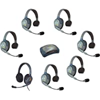Eartec HUB7SMXD | 7 Person System with 6 Single and 1 Max 4G Double Headsets
