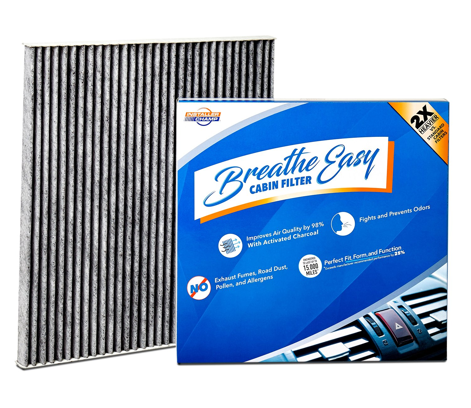 Low Cost Installer Champ Breathe Easy Cabin Filter, Up To 25% Longer Life