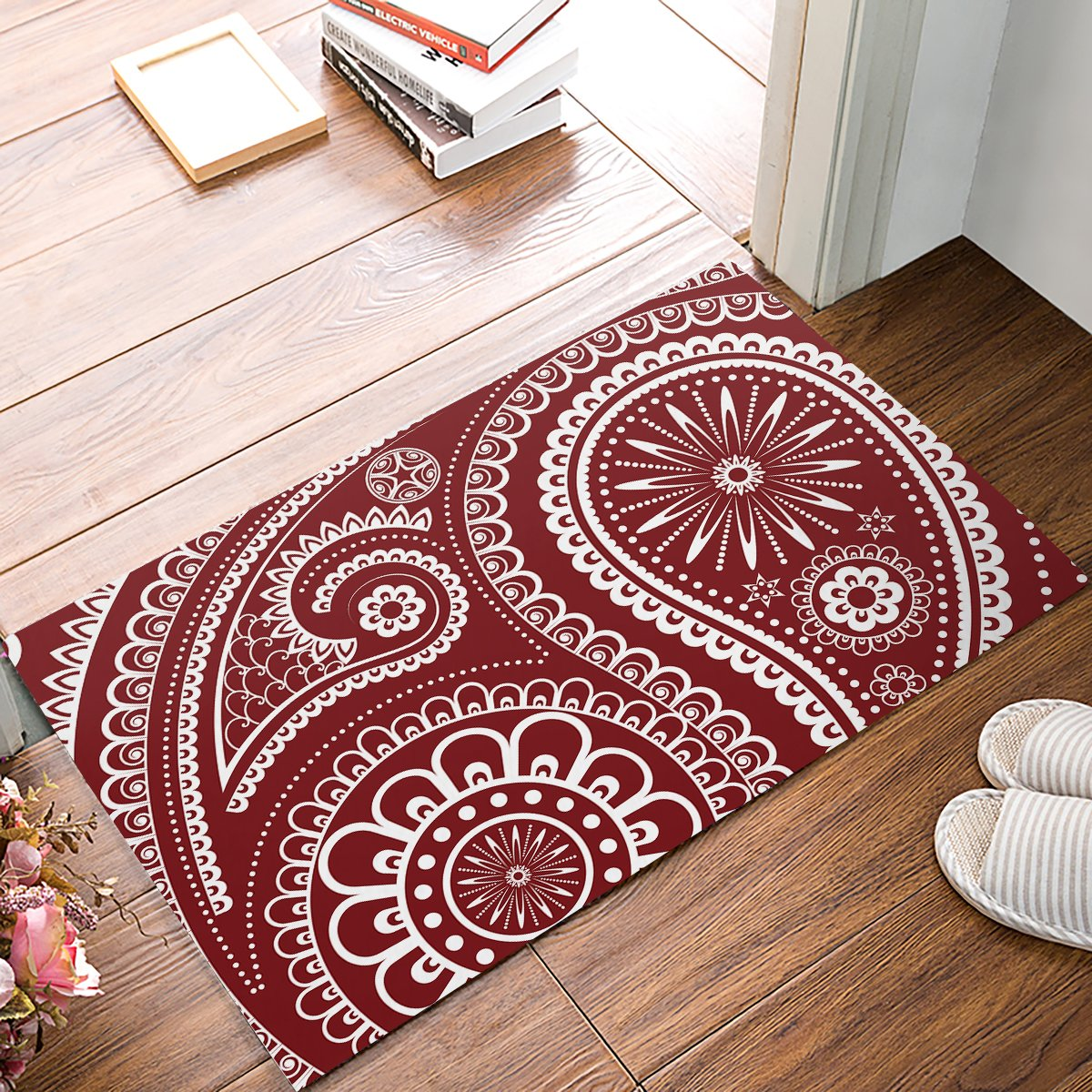 Fandim Fly Rustic Nautical Anchor /& American USA Flag 4th July Independence Day Red Navy White Door Mats Rug Non-Skid Slip Rubber Indoor Kitchen Entry 20 x 31.5 inch