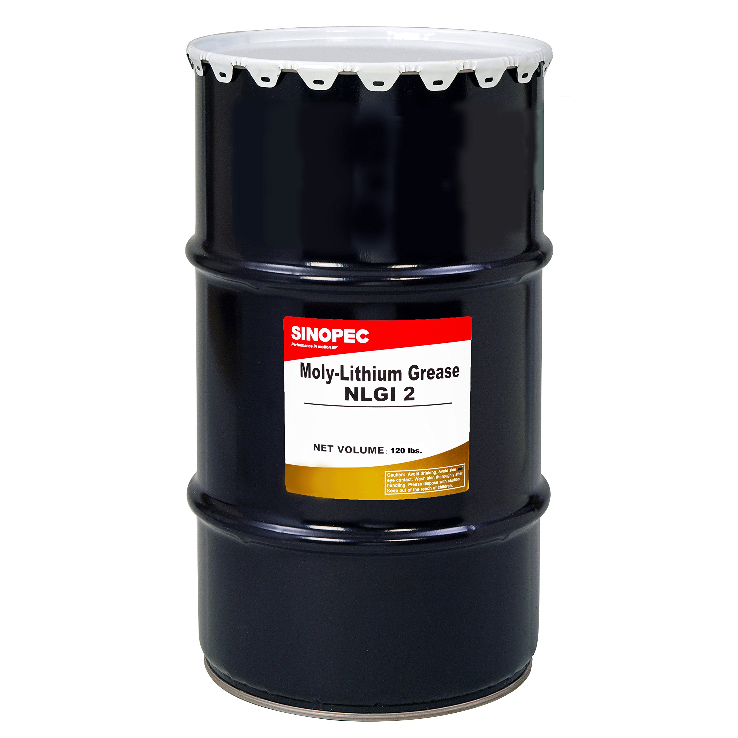 Sinopec Moly Extreme Pressure Lithium Grease #2, 120 lb.