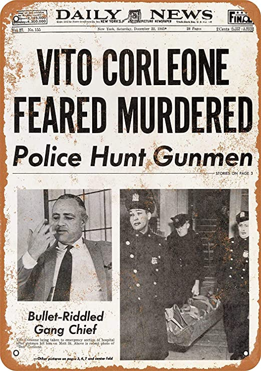 Shunry Vito Corleon Feared Murdered Placa Cartel Vintage ...