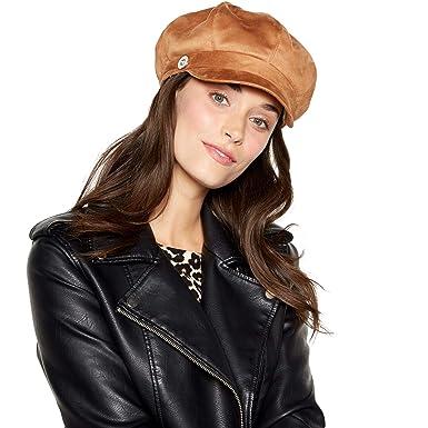 893c6654a6d Rjr.John Rocha Tan Suedette Faux Fur Lined Baker Boy Hat  RJR.John Rocha   Amazon.co.uk  Clothing