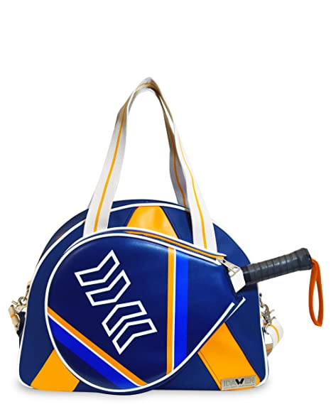 Idawen Bolsa Padel Mujer | Retro-Disegno BLU-tasca Especial para ...