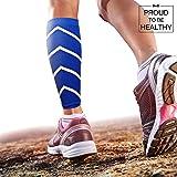 [Bandage de mollets de sports] Favorise la performance, l'endurance, la circulation sanguine et la régénération. | Compression des mollets antibactérienne et sans danger pour la peau | Bas de contention de mollets | Compression des manchons d'appel