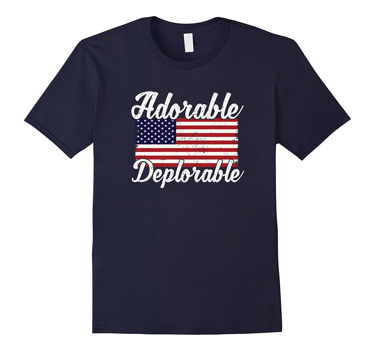 Ado-rable Dep-lorable T Shirt Trump 2016 T Shirt-CD