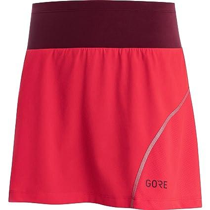 Gore Wear R7 Mujer Falda Pantalón Shorts, Hibiscus Pink/Chestnut ...