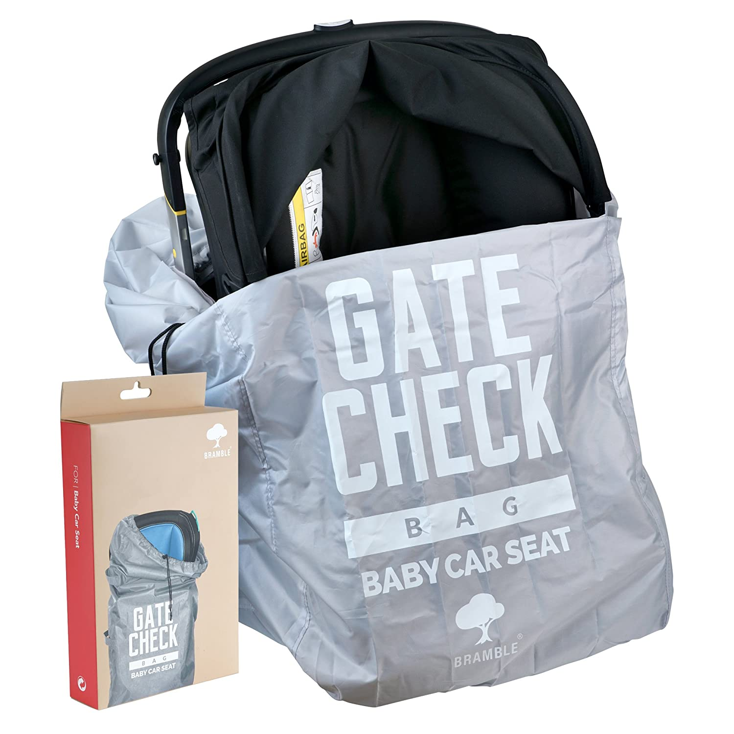 Baby Car Seat Travel Bag - Ideal for Airplane Gate Check In - Easy to Carry and Identify at Airport Baggage Carousel Bramble