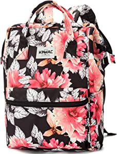 Kinmac Waterproof Laptop Backpack For Laptop Up to 15.6 Inch Men Women Student Travel Outdoor Backpack (Chrysanthemum)
