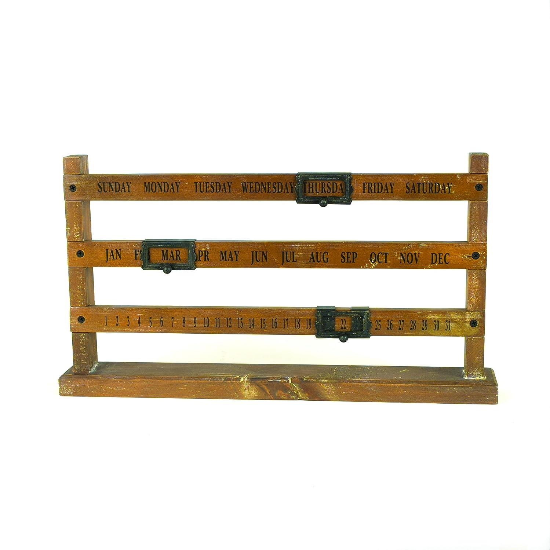 クリエイティブco-op木製Perpetual Calendar   B00MOF942E