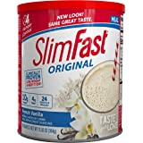 SlimFast Original Meal Replacement Shake Mix Powder – Weight Loss Shake – 10g of Protein – 24 Vitamins and Minerals Per…