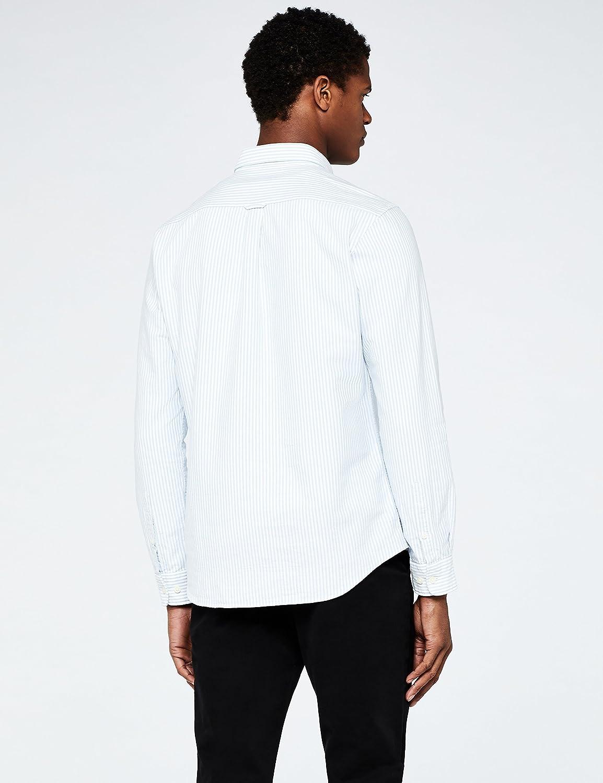 Marchio Camicia casual Uomo MERAKI Cotton Regular Fit Oxford Stripe