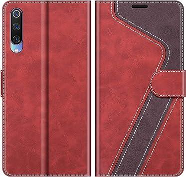 MOBESV Funda para Xiaomi Mi 9, Funda Libro Xiaomi Mi 9, Funda Móvil Xiaomi Mi 9 Magnético Carcasa para Xiaomi Mi 9 Funda con Tapa, Rojo: Amazon.es: Electrónica