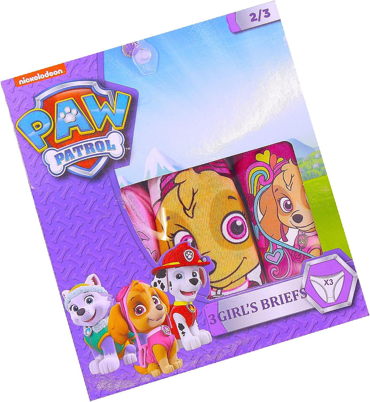 Girls Paw Patrol Brieifs Pants Age 2-8 Years Pack of 3