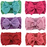 Baby Girls Nylon Headbands Flower Hair Bows Floral Hairbands Soft Turban Knotted Headwrap for Newborn Toddler and Girls