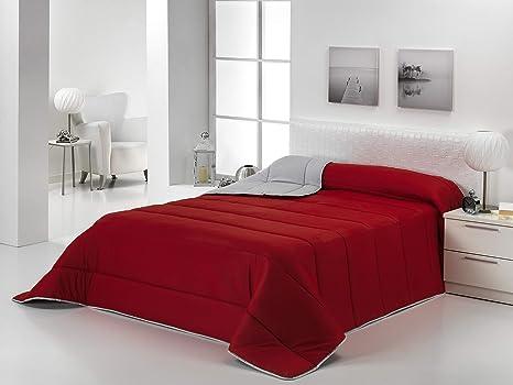 Edredon Nordico Rojo.Dcasa On Line Canadian Edredon Relleno Nordico Reversible Microfibra Poliester Rojo Plata 90 105 Cm