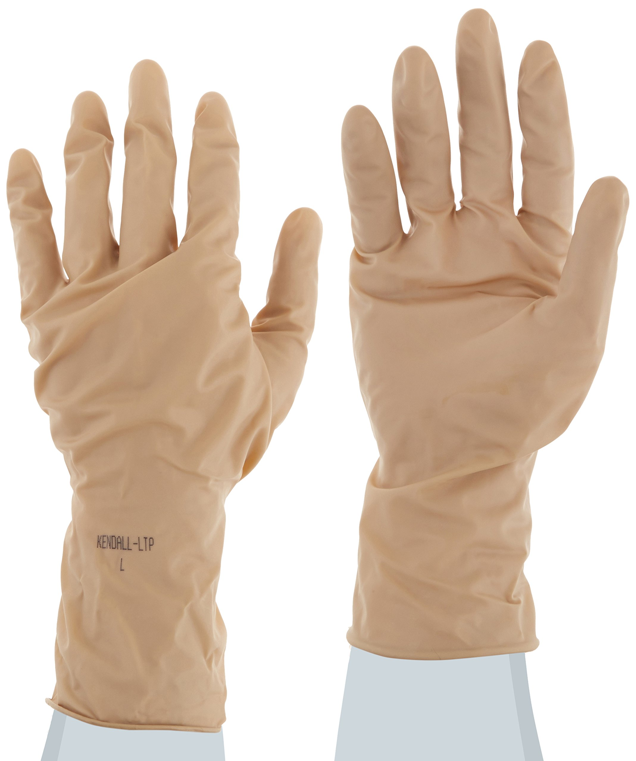 Kendall CT21931 ChemoPlus Neoprene Hand Specific Glove, Non-Sterile, Beaded Cuff, Powder-Free, 9 mil Thickness, 12'' Length, Large (Case of 300)